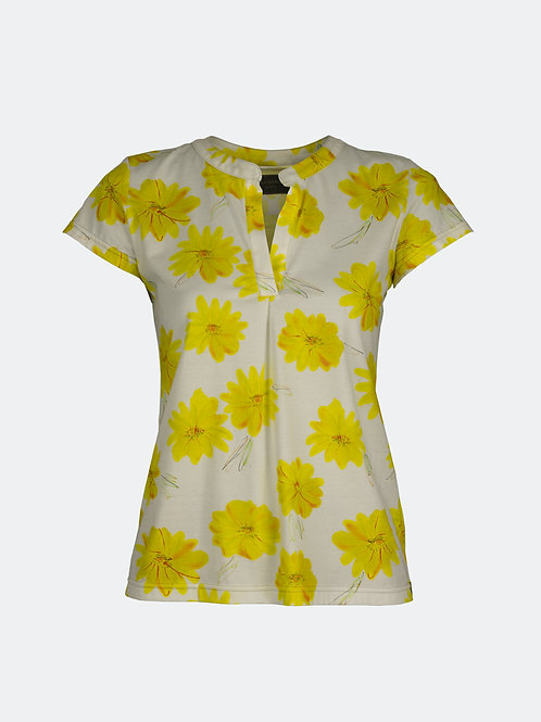 Shirt Hannah - Blumen gelb