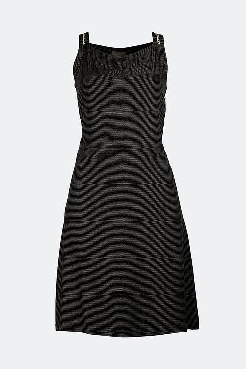 Kleid Luna - schwarz gestreift