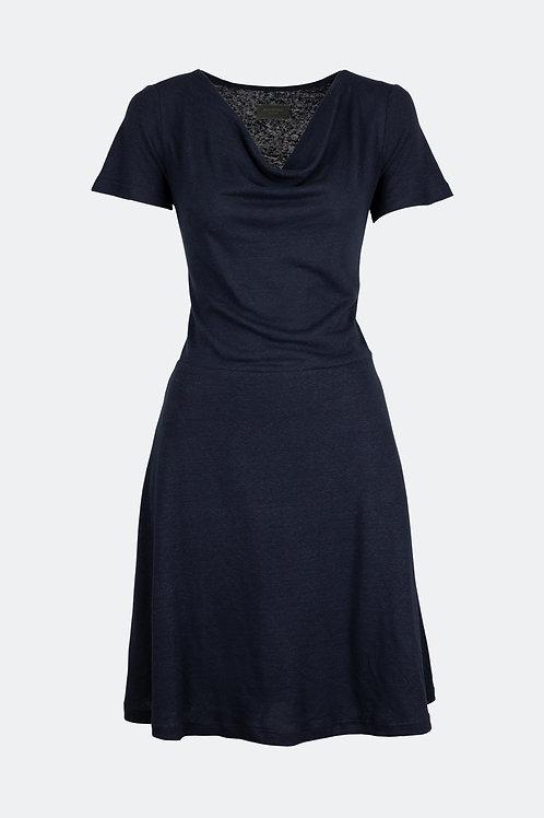 Kleid Emma - Leinen nachtblau