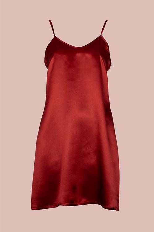 Unterkleid Anna - rote Seide