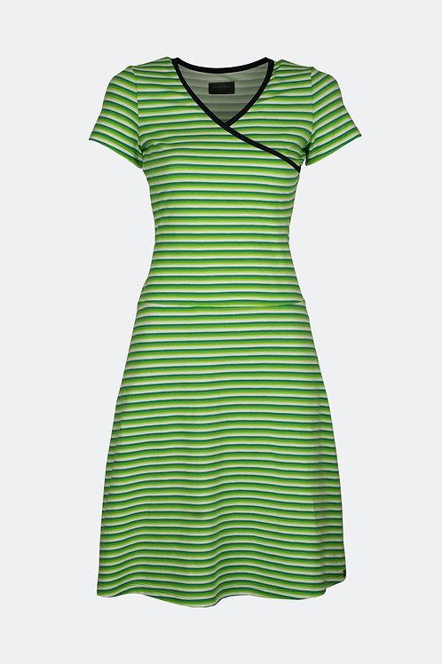 Wickelkleid - Streifen grün