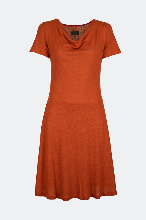 Kleid Emma - Leinen orange