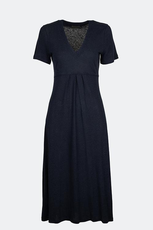 Kleid Rena - Leinen nachtblau