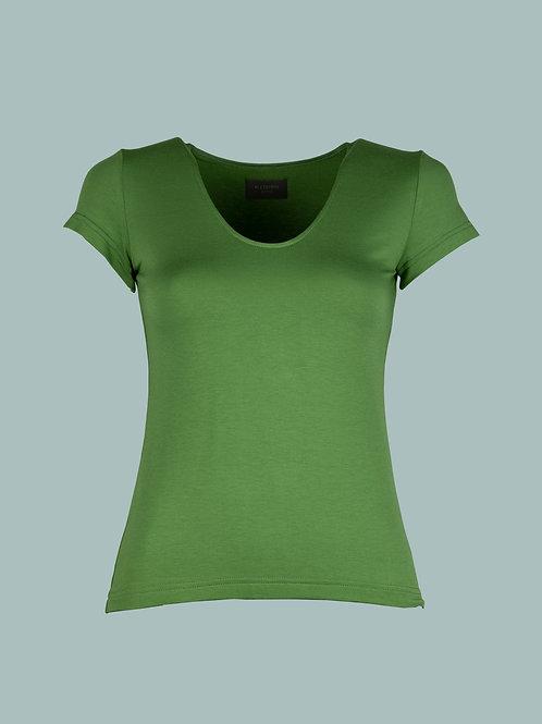 V-Shirt - Apfelgrün