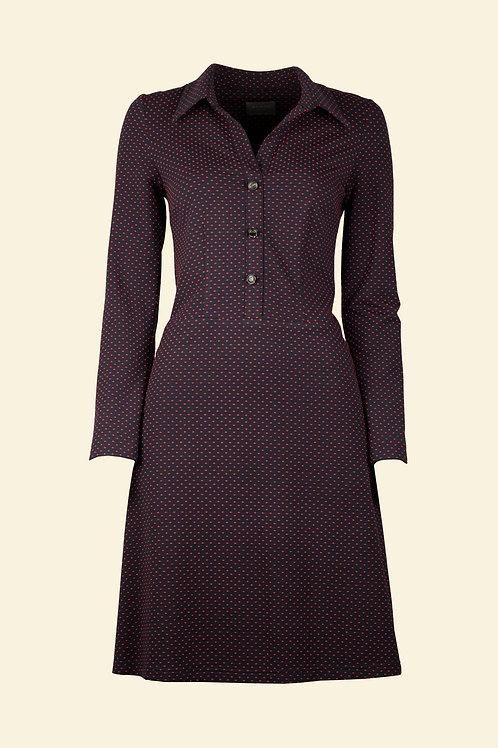 Kleid Lanvin - rote Punkte
