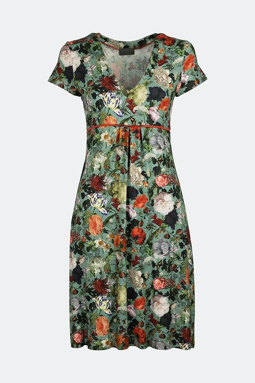 Kleid Rena - Floral minitürkis