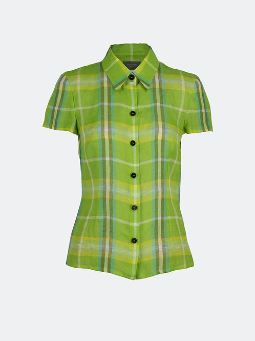 Hemdbluse - grünes Karo