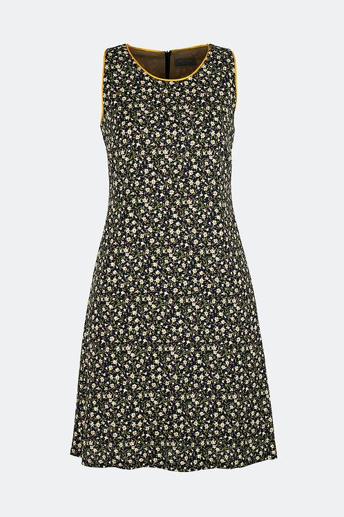 Kleid Annett - Blume schwarz