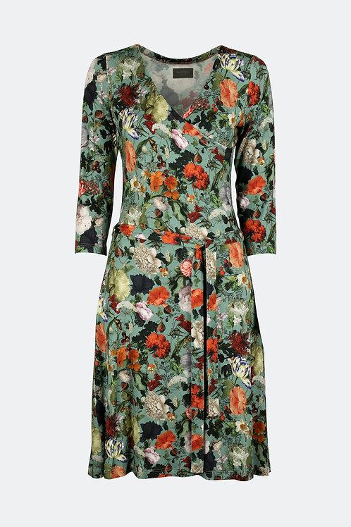 Wickelkleid - Floral minttürkis