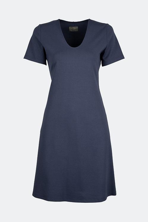 V-Kleid - Pflaumenblau