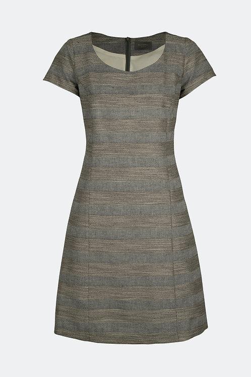 Kleid Carmen - Streifen grau