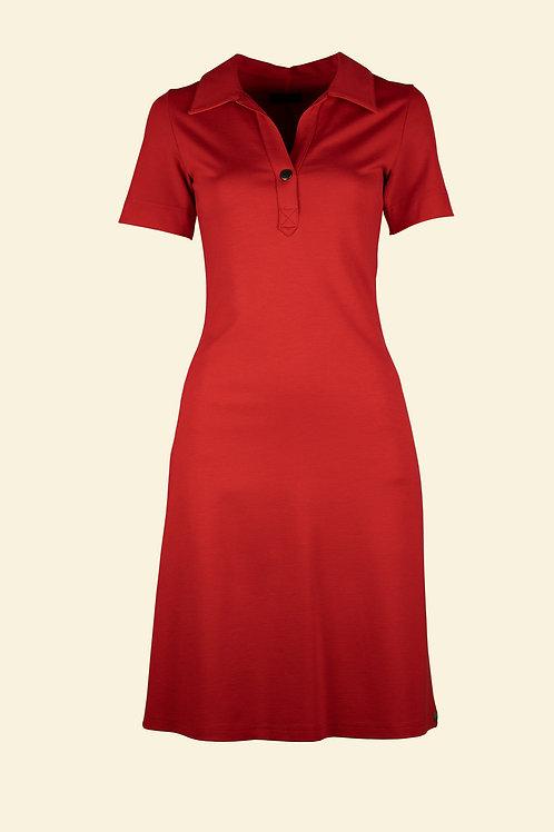 Polo Kleid - rot