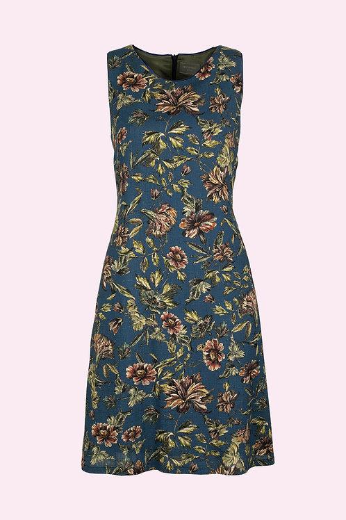 Kleid Annett - Blumen blau