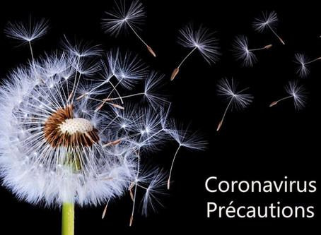 Coronavirus COVID-19, mesures de précaution