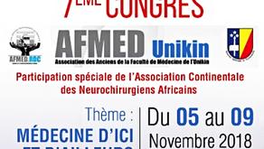 Participation au VIIe Congrès AFMED-UNIKIN