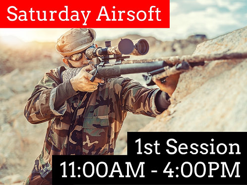 October 3rd: Airsoft Admission (Session 1)