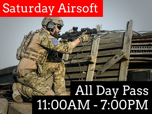 October 3rd: Airsoft Admission (Double Session)