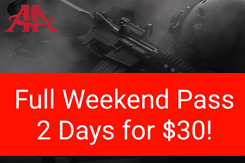 Full Weekend: 2 Day Pass