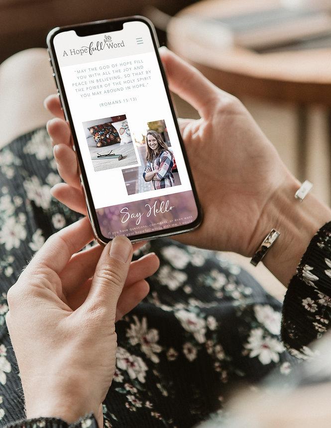 A Hopefull Word blog mobile phone design