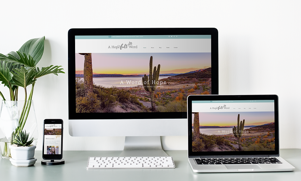 A Hopefull Word blog website design