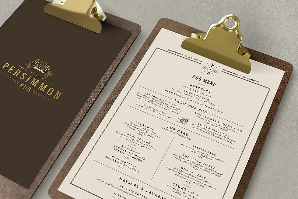 Persimmon Pub menu branding design