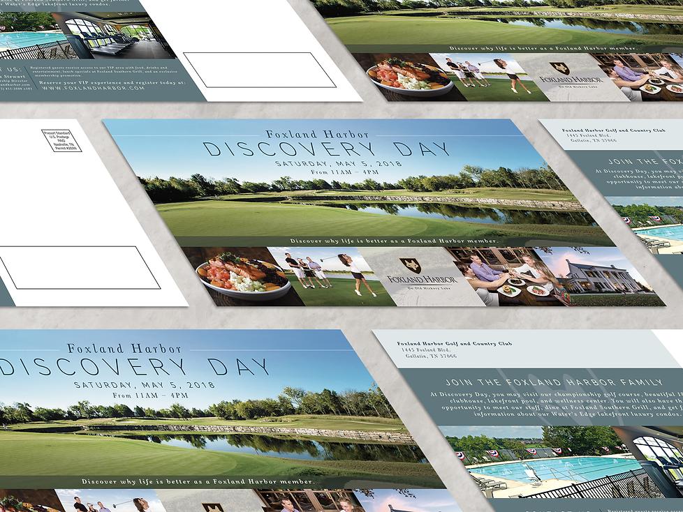 Foxland Harbor postcard branding design Tennessee