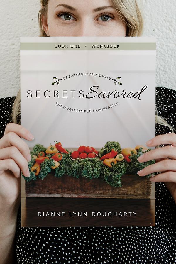 Secrets Savored book cover design