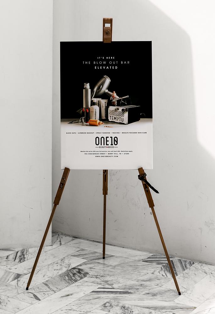 One10 Beauty print ad design