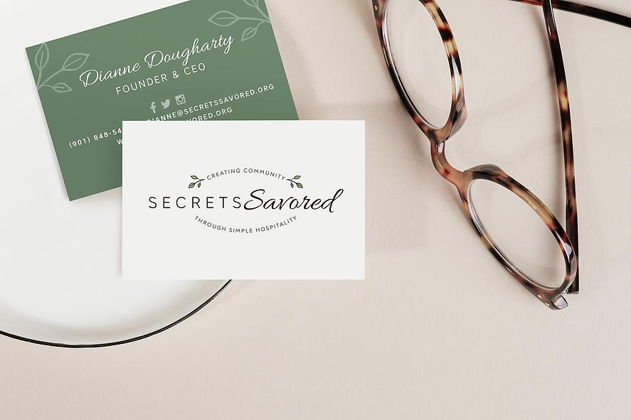 Secrets Savored Business Card design