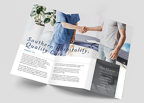 Prestige Physical Therapy brochure design