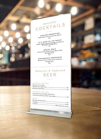 Branding design menu design