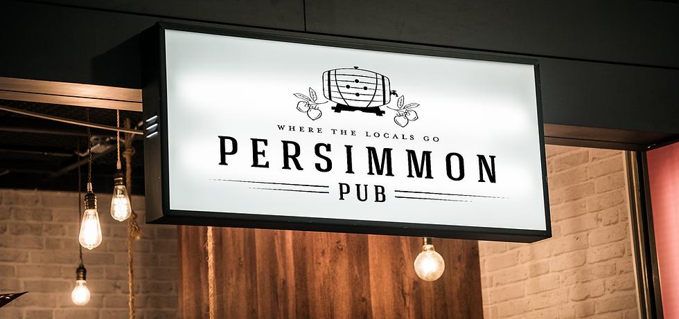 Persimmon Pub golf course pub sign mock up