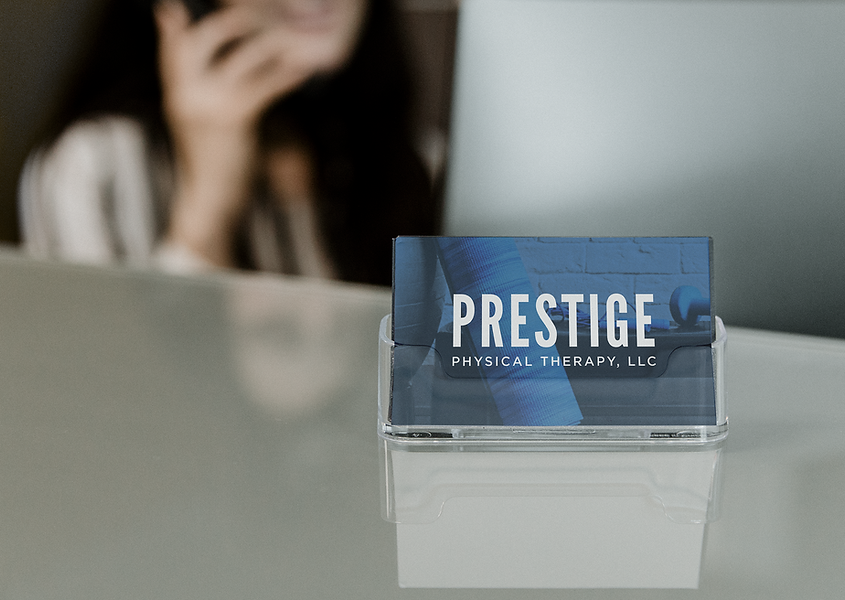 Prestige Physical Therapy Business Cards