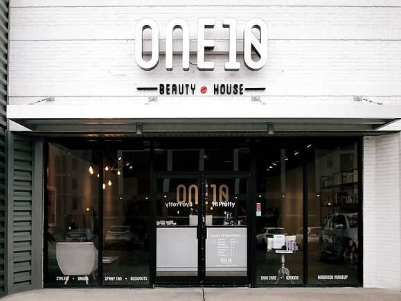 One10 Beauty salon signage design