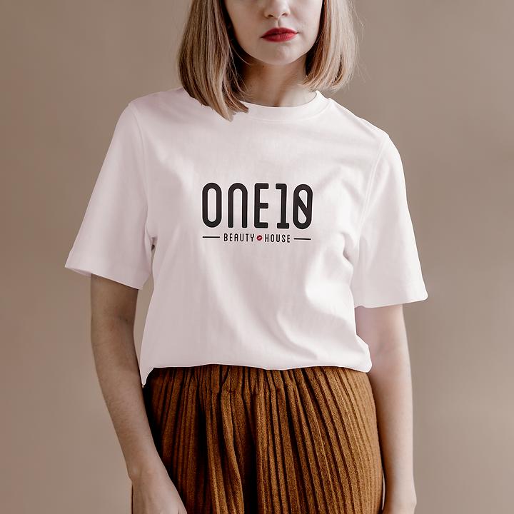 One10 Beauty branding t-shirt design