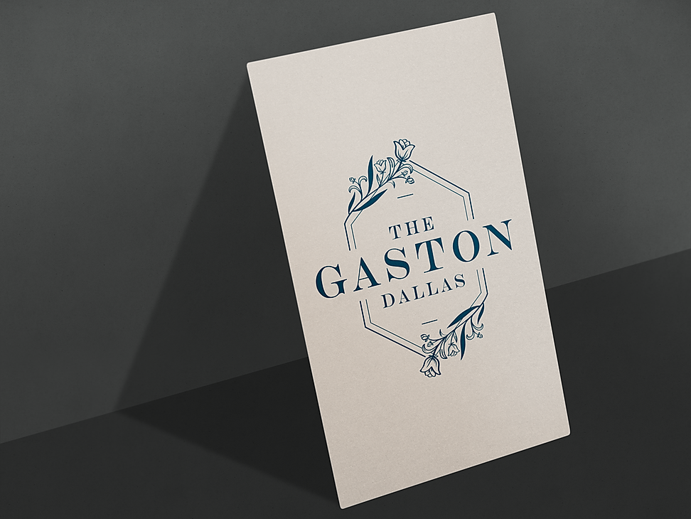 The Gaston Dallas Business Card design mock up