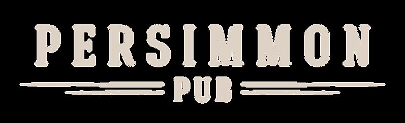 Persimmon Pub alternatel logo design