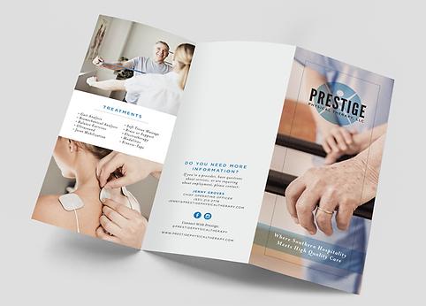 Prestige Physical Therapy brochure design