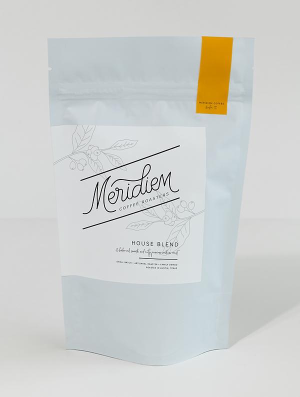 Meridiem Coffee Roasters bag sample mock up