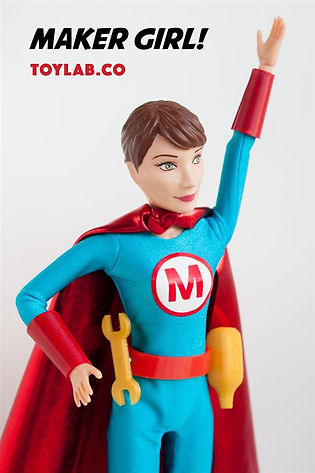 Designer Mary Huang's 3D printed action figures send