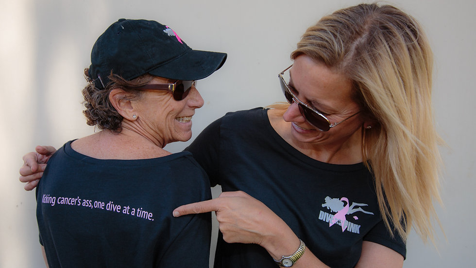 Ladies' kicking cancer's A** t-shirt