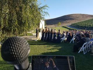 Nella Terra Cellars Wedding - Natalie and Josh gets married! Sound Wave Mobile DJ