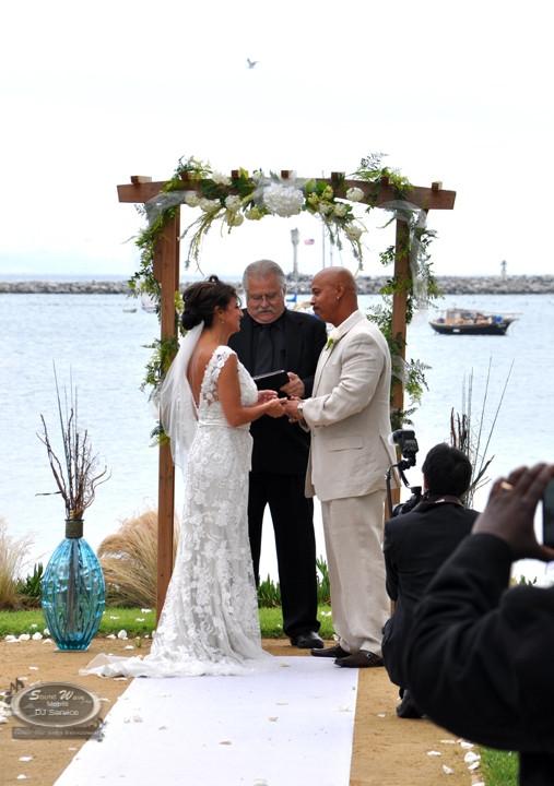 Ceremony by the sea - half moon bay - mavericks event center