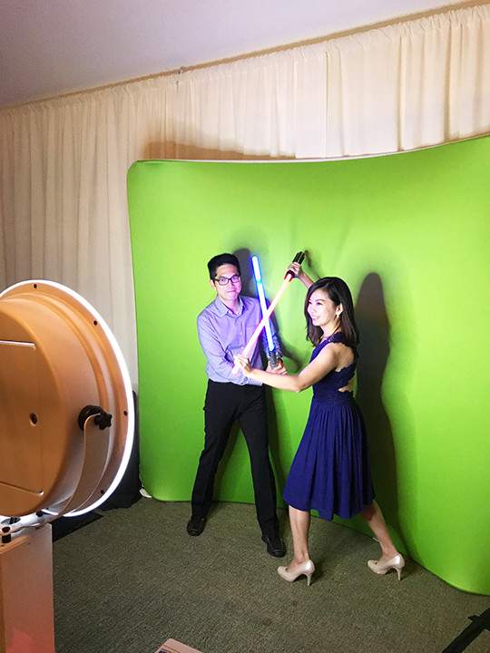 green screen photobooth stonebrea hayward wedding