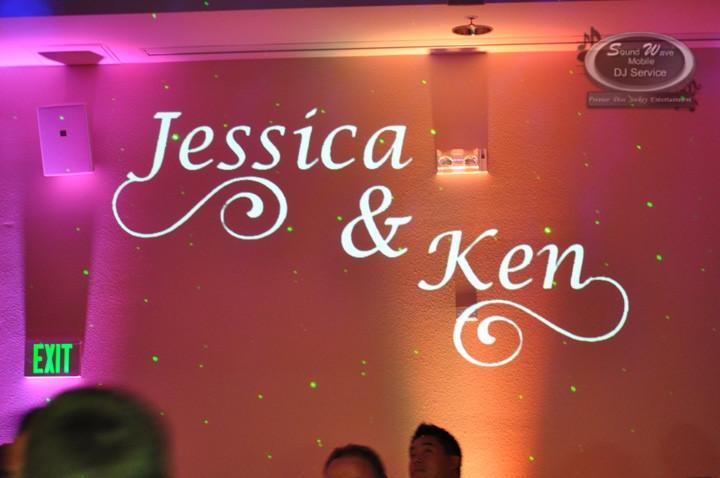Martinelli Event Center, Livermore - Wedding Uplighting and Monogram