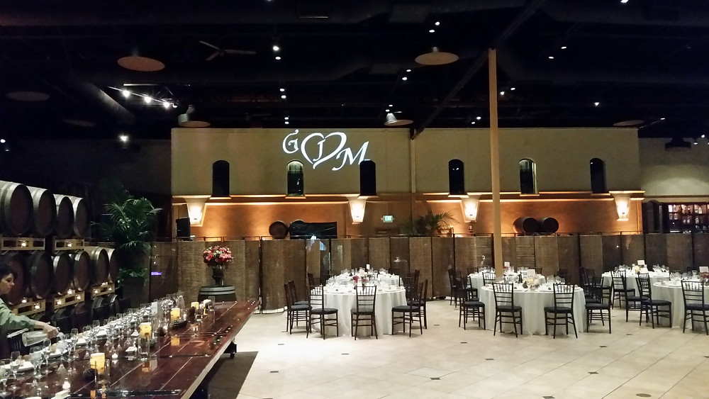Monogram Projection at Palm Event Center, always a unique and personal touch