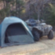 Tent Site with ATV 4 wheeler