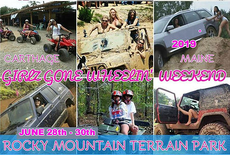 Friends Family Wheeling fun Rocky Mountai Terrain Park ATV 4x4 Trails Mud Bog Jeeps Carthage MAINE Food Camping
