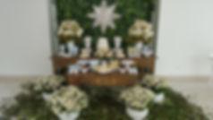 Batizado Com Mesas Rústicas