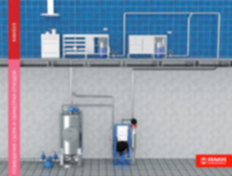 Вакуумная система переработки пищевых отходов на корабле